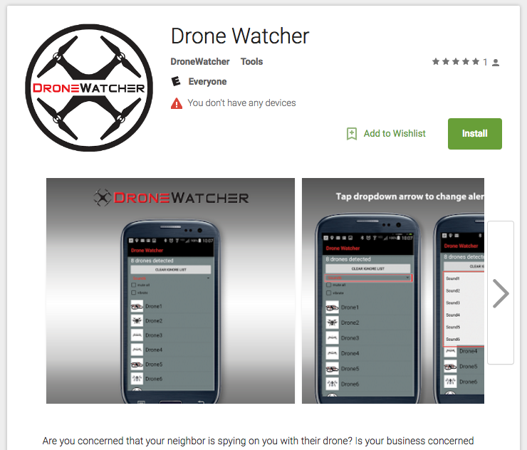 Drone Watcher: Android App That Detects UAS